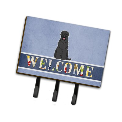 Russian Terrier Welcome Leash or Key Holder