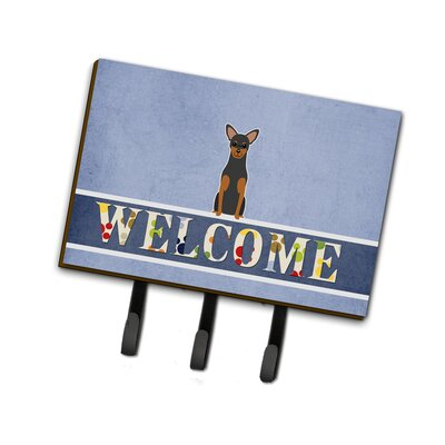 Manchester Terrier Welcome Leash or Key Holder