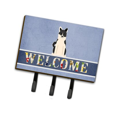 Russo-European Laika Spitz Welcome Leash or Key Holder