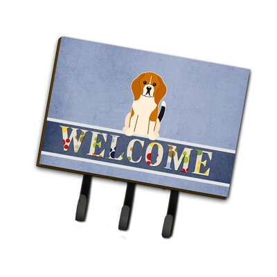 Beagle Welcome Leash or Key Holder