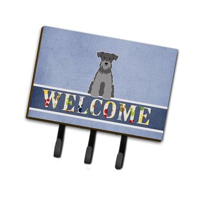 Miniature Schanuzer Welcome Leash or Key Holder Finish: Black / Silver