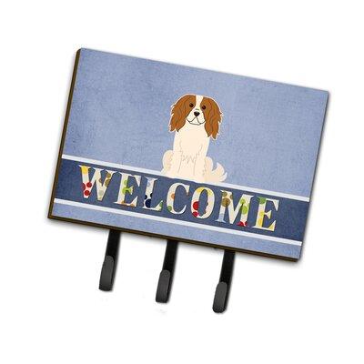Cavalier Spaniel Welcome Leash or Key Holder