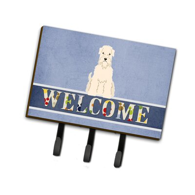 Soft Coated Wheaten Terrier Welcome Leash or Key Holder
