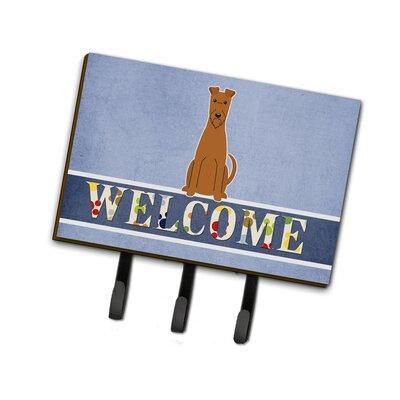 Irish Terrier Welcome Leash or Key Holder