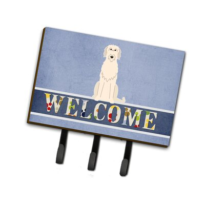 Irish Wolfhound Welcome Leash or Key Holder