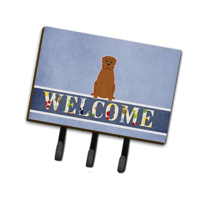 Dogue de Bourdeaux Welcome Leash or Key Holder