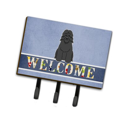 Bouvier des Flandres Welcome Leash or Key Holder