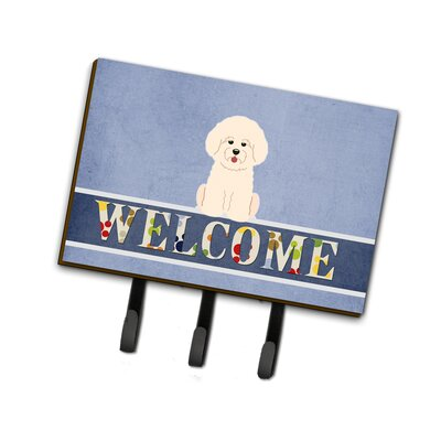 Bichon Frise Welcome Leash or Key Holder