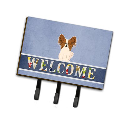 Papillon Welcome Leash or Key Holder Finish: Sable