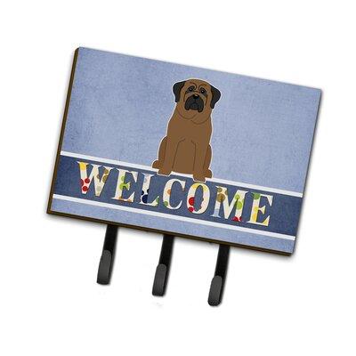Bullmastiff Welcome Leash or Key Holder