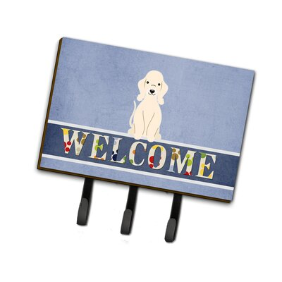 Bedlington Terrier Welcome Leash or Key Holder