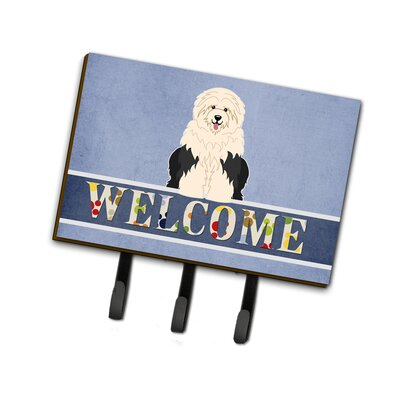 Old English Sheepdog Welcome Leash or Key Holder