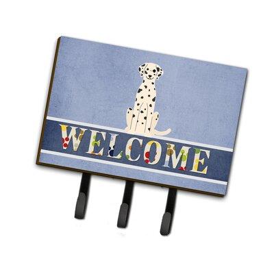 Dalmatian Welcome Leash or Key Holder