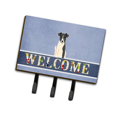 Smooth Fox Terrier Welcome Leash or Key Holder