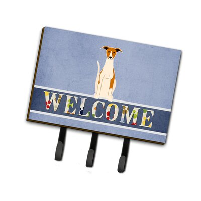 Whippet Welcome Leash or Key Holder