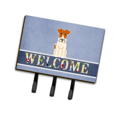 Wire Fox Terrier Welcome Leash or Key Holder
