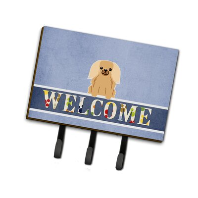 Pekingnese Fawn Sable Welcome Leash or Key Holder