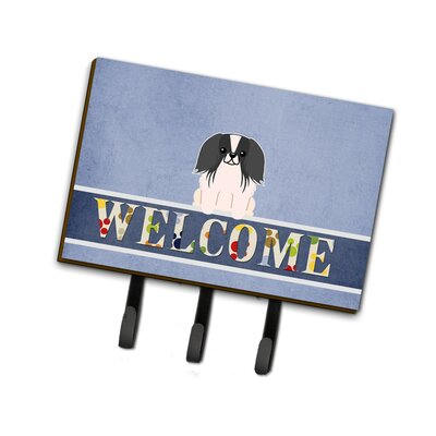 Pekingnese Welcome Leash or Key Holder Finish: Black
