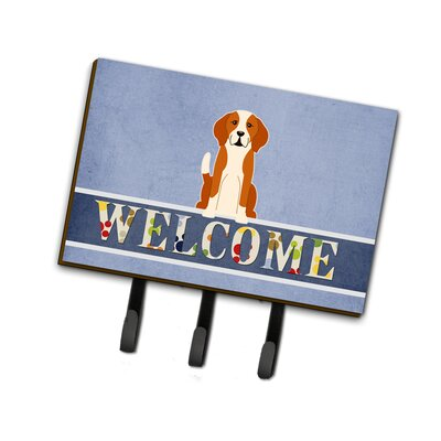 English Foxhound Welcome Leash or Key Holder