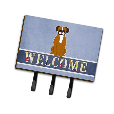 Flashy Boxer Welcome Leash or Key Holder