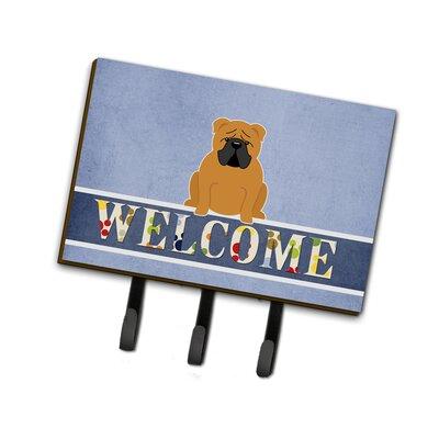 English Bulldog Welcome Leash or Key Holder