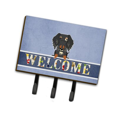 Wire Haired Dachshund Welcome Leash or Key Holder