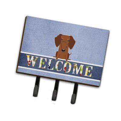 Dachshund Welcome Leash or Key Holder