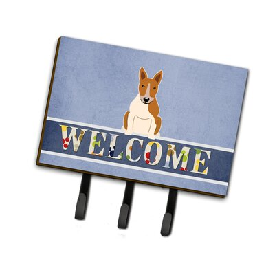 Bull Terrier Welcome Leash or Key Holder