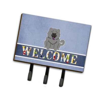 Chow Chow Welcome Leash or Key Holder Finish: Gray