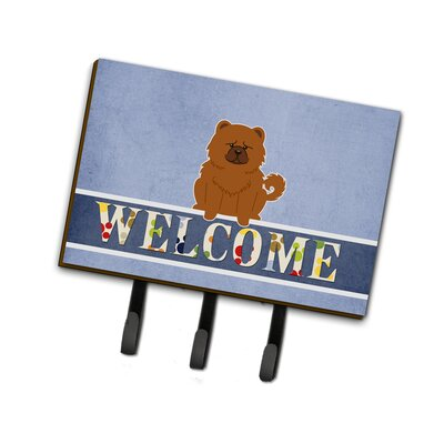 Chow Chow Welcome Leash or Key Holder Finish: Yellow