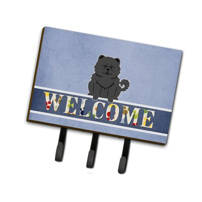 Chow Chow Welcome Leash or Key Holder Finish: Stone