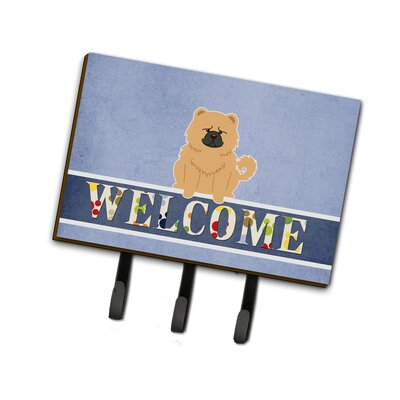 Chow Chow Welcome Leash or Key Holder Finish: Cream