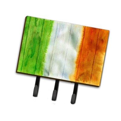 Irish Flag on Wood Leash or Key Holder