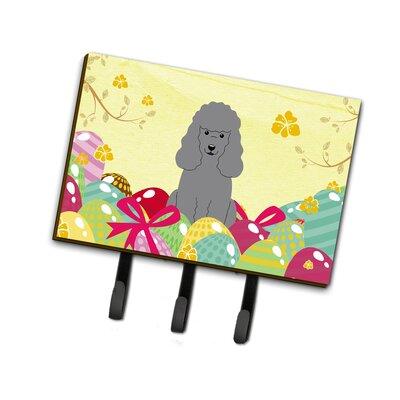 Easter Eggs Poodle Leash or Key Holder Finish: Silver