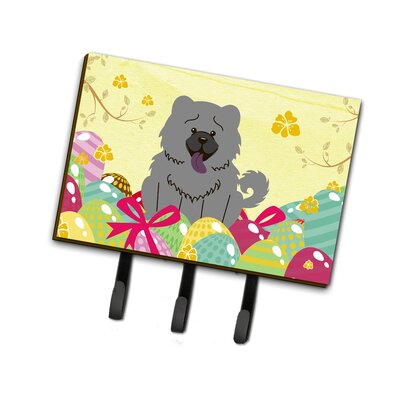 Easter Eggs Chocolate Chow Chow Leash or Key Holder Finish: Gray