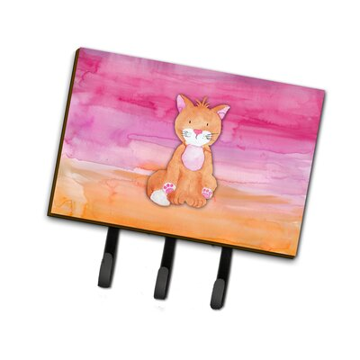 Cat Watercolor Leash or Key Holder