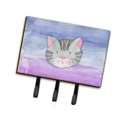 Cat Face Watercolor Leash or Key Holder