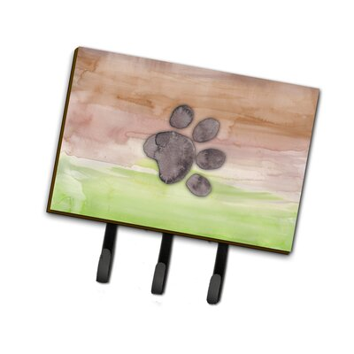 Dog Paw Watercolor Leash or Key Holder