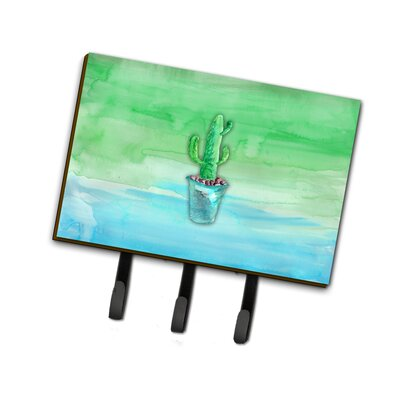 Cactus Watercolor Leash or Key Holder