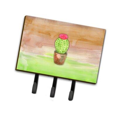 Cactus Watercolor Leash or Key Holder