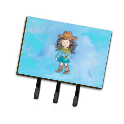 Cowgirl Watercolor Leash or Key Holder