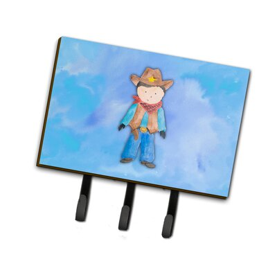 Cowboy Watercolor Leash or Key Holder