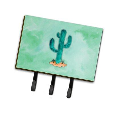 Western Cactus Watercolor Leash or Key Holder