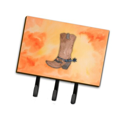 Cowboy Boot Watercolor Leash or Key Holder