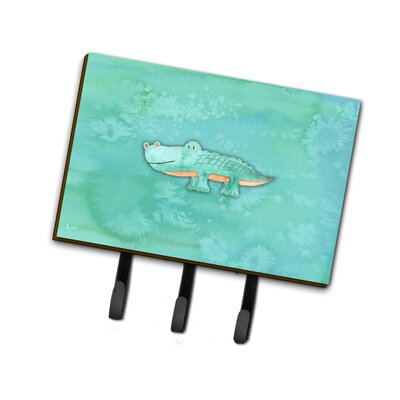 Alligator Watercolor Leash or Key Holder