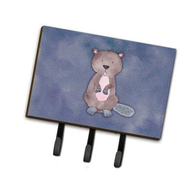 Beaver Watercolor Leash or Key Holder