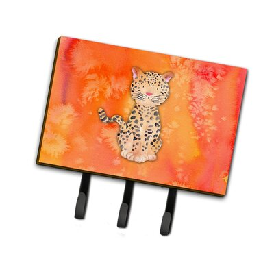 Leopard Watercolor Leash or Key Holder