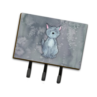 Wolf Watercolor Leash or Key Holder