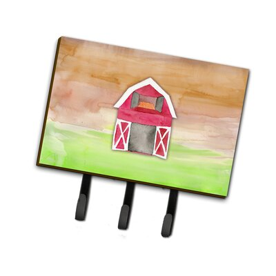 Barn Watercolor Leash or Key Holder