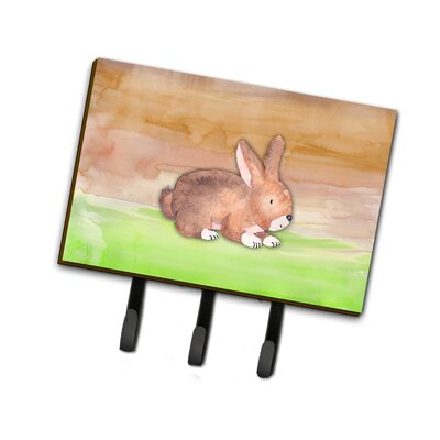Rabbit Watercolor Leash or Key Holder